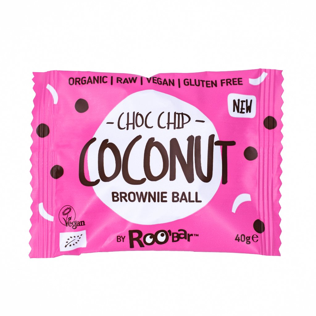 ROOBAR Brownie Ball Choco Chip Coconut 40g BIO/Organic