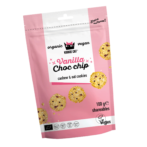 KOOKIE CAT mini cookies Choc Chip 100g BIO