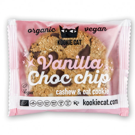 KOOKIE CAT Vainilla & Choco Chip 50g BIO/Organic